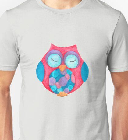 Boho the sleepy owl Unisex T-Shirt