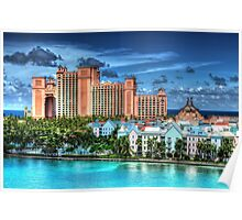 Atlantis Towers and Harbor Village in Paradise Island, Nassau, The Bahamas Poster