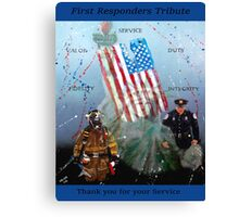 First Responders Tribute Canvas Print