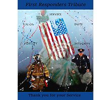 First Responders Tribute Photographic Print