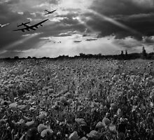 The final sortie black and white version by Gary Eason + Flight Artworks