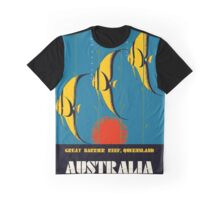 Great Barrier Reef Australia travel advertising Graphic T-Shirt