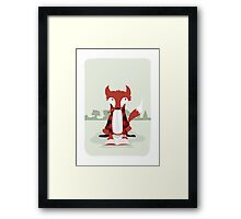 """Old Red the Reading Fox - """"Up North"""" series 1 of 3 Framed Print"""