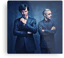 Sherlock and John Metal Print