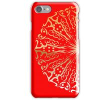 Red and Gold Mandala iPhone Case/Skin