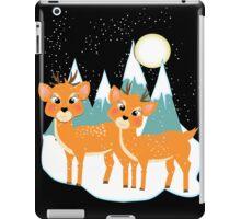 Christmas Festive Whimsical Reindeer Snow Scene iPad Case/Skin