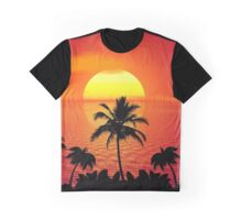 Tropical Sunset Graphic T-Shirt