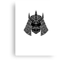 Shred Head (black) Canvas Print