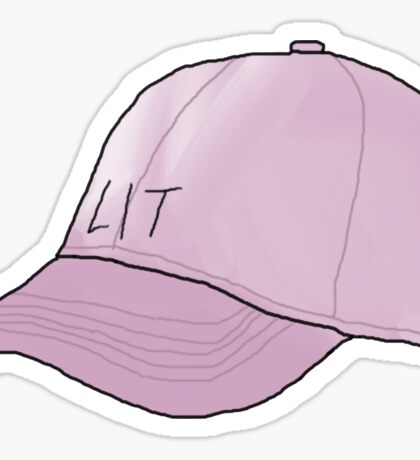Lit Cap Sticker