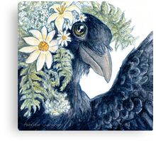 Crow Selfie Canvas Print