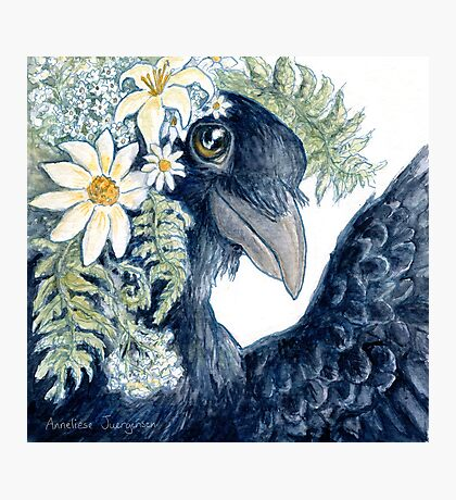 Crow Selfie Photographic Print