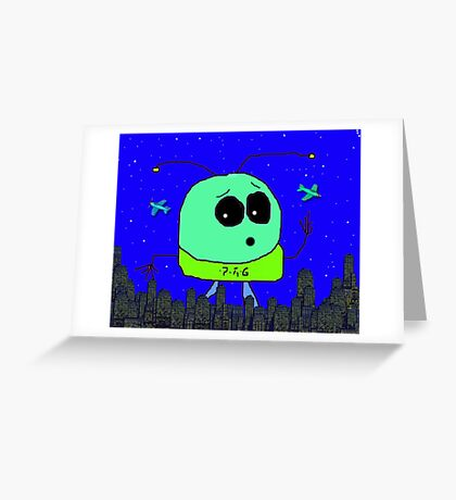 Mooky Goes Large!  Greeting Card