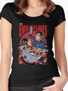EVIL FLAKES Women's Fitted Scoop T-Shirt