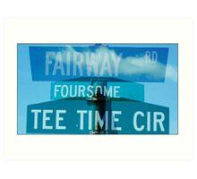 Fairway-Foursome-Tee Time Art Print