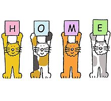 HOME (Cartoon cats) by KateTaylor