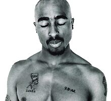 Tupac Shakur by evanda