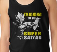 Training To Go Super Saiyan (Goku Hardcore Squat) Tank Top