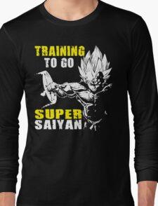 Training To Go Super Saiyan (Vegeta Hardcore Squat) Long Sleeve T-Shirt