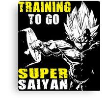 Training To Go Super Saiyan (Vegeta Hardcore Squat) Canvas Print
