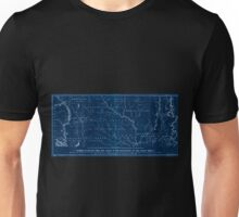0071 Railroad Maps Map of the route surveyed from the Mississippi at Lake Providence in Louisiana to the great bend of Red river at Fulton in Inverted Unisex T-Shirt