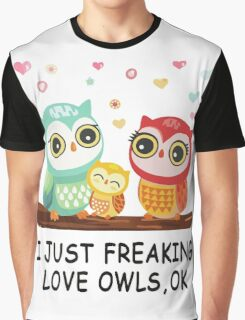 Owl love Graphic T-Shirt
