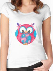 Delilah cute little owl Women's Fitted Scoop T-Shirt