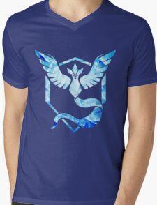 Blue Team Mens V-Neck T-Shirt