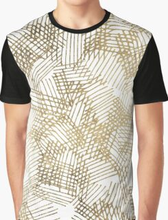Modern chic faux gold abstract geometrical pattern Graphic T-Shirt