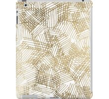 Modern chic faux gold abstract geometrical pattern iPad Case/Skin