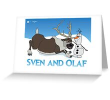 Sven and Olaf Greeting Card
