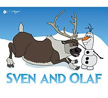 Sven and Olaf Photographic Print