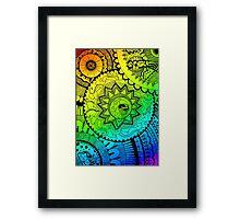 Coloured Zentangle Framed Print