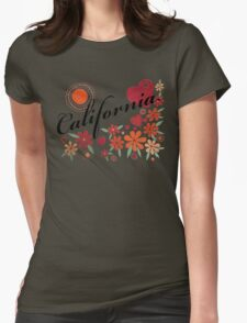 CALIFORNIA LOVE - CALIFORNIA HEART Womens Fitted T-Shirt