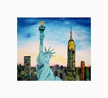 Statue Of Liberty With View Of New York Unisex T-Shirt