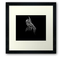 It's Not Who I Am Underneath... (Grayscale) Framed Print