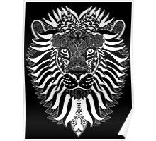 Lion Mandala - White Version  Poster
