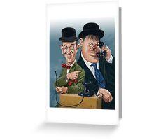 Laurel & Hardy Greeting Card