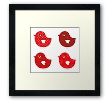 Retro birds collection / beautiful and cute birds Framed Print