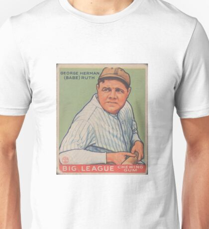 Babe Ruth - Vintage Baseball Card Unisex T-Shirt
