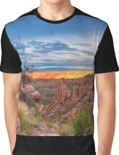 Sunset Burning Ridge Colorado National Monument  Graphic T-Shirt