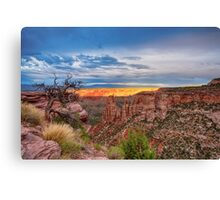 Sunset Burning Ridge Colorado National Monument  Canvas Print
