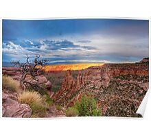 Sunset Burning Ridge Colorado National Monument  Poster