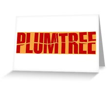 Plumtree and plum Tree Greeting Card