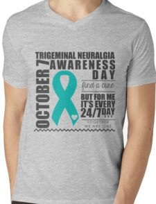 Trigeminal Neuralgia Awareness Day Mens V-Neck T-Shirt