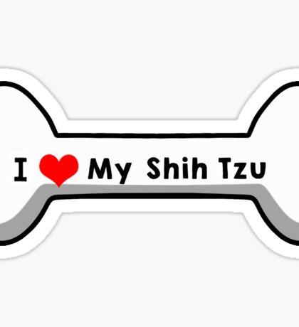 I Love My Shih Tzu Sticker