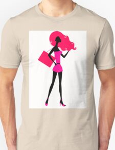 Fashion woman silhouette : original vintage hand-drawn Illustration Unisex T-Shirt