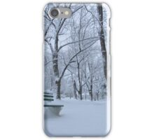 Winter bench iPhone Case/Skin