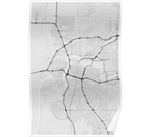Sacramento, USA Map. (Black on white) Poster