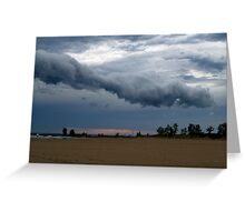 The Storm That Cleared The Beach Greeting Card