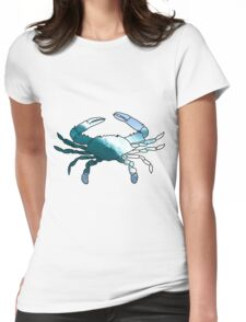 waves crab Womens Fitted T-Shirt